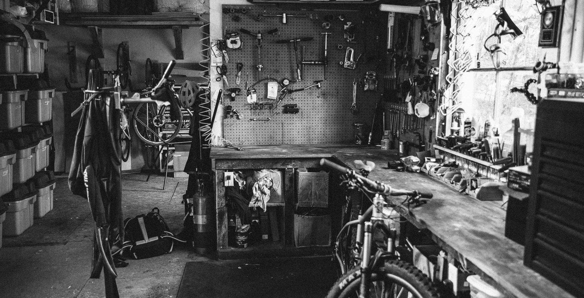 Whittingham's workspace is a place most mountain bikers only dream about. Running a business out of a shop is no easy task though; it requires a knack for organization and an ability to stay focused.