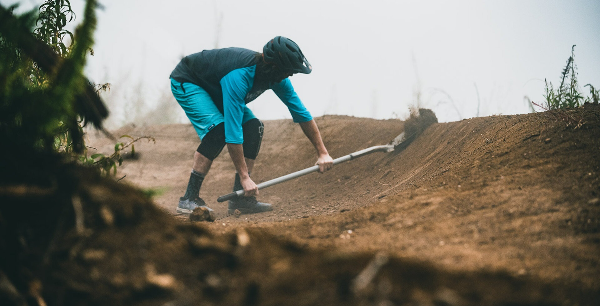 High humidity makes for perfect dirt and the Northwest has no shortage of either. Skye Schillhammer tunes up a berm on North Mountain.