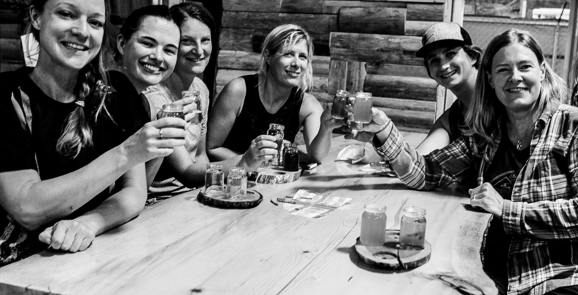 In Pemberton, BC, the beverages are as rewarding as the climbs, and the good company is just as plentiful. Photo: Katherine Wood