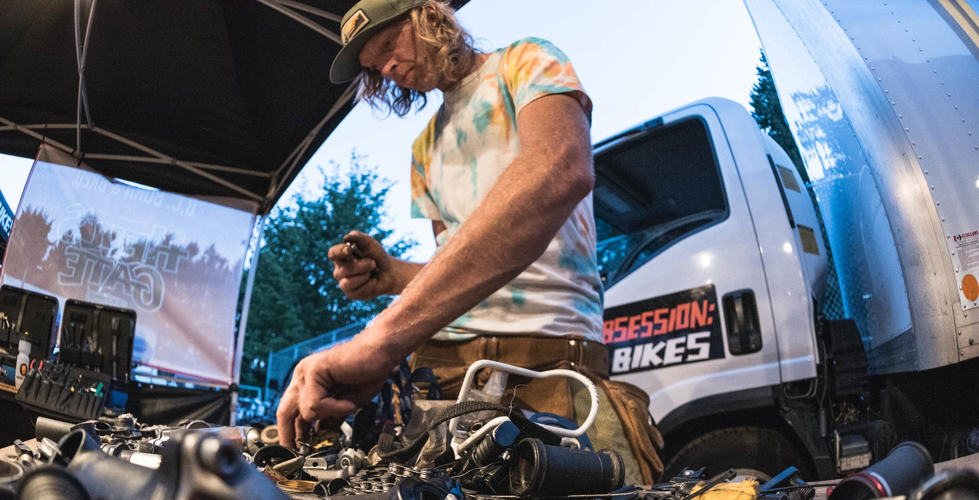 Every problem is solved one part at a time. Newton finds some suitable bearing replacements for a bottom bracket at the BC Bike Race.