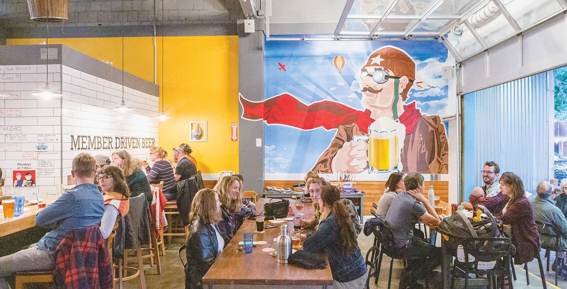 A business built by the community will be supported by the community—that's the idea behind Flying Bike. Being in the business of beer certainly helps, too.