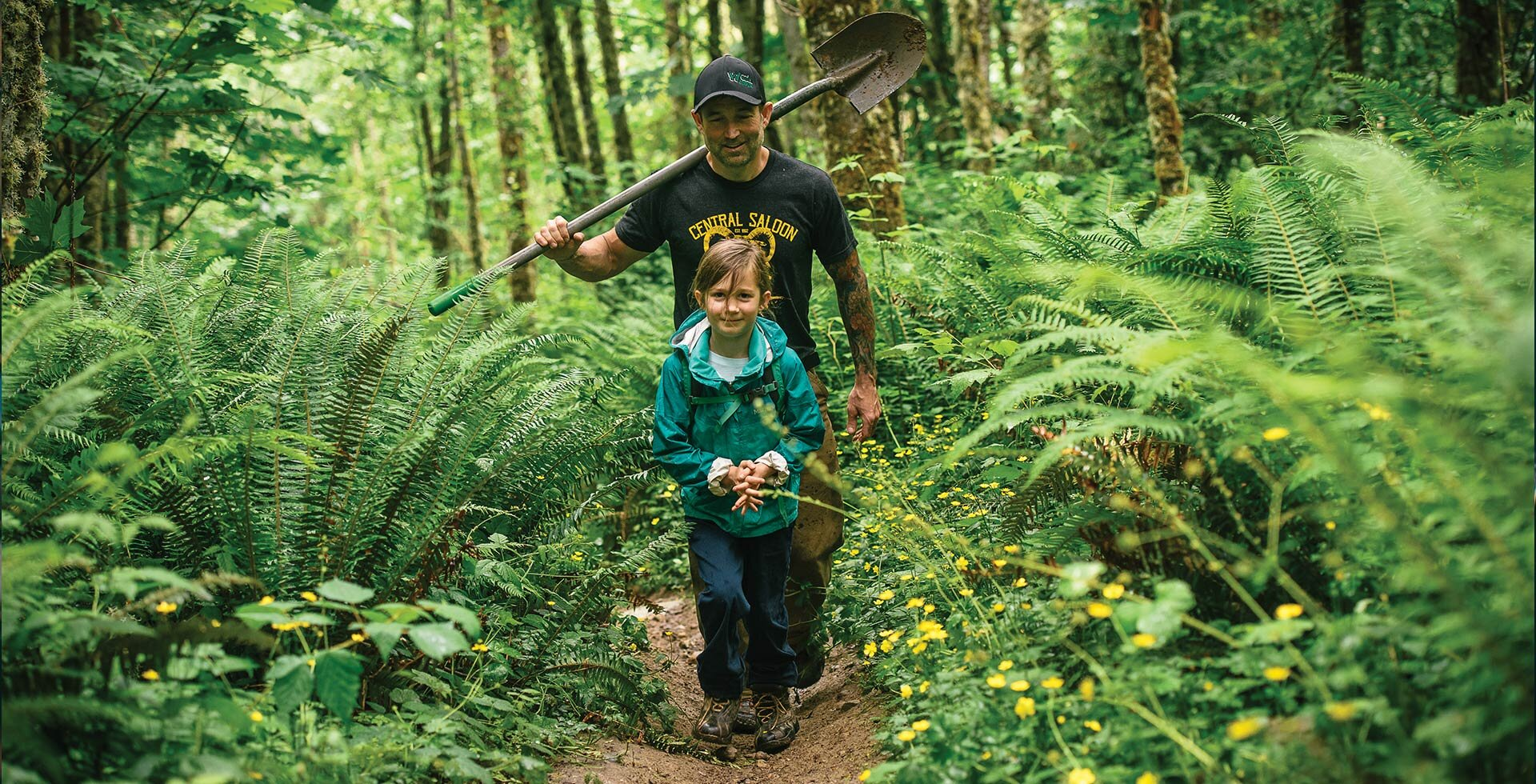 Todd Zimmerman and his daughter Mabel took advantage of closed schools and more time at home last year to bond over building trails together.