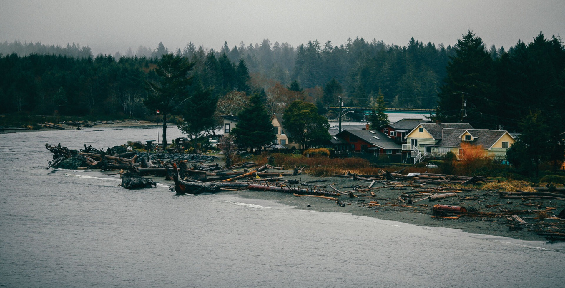 Gray-day vibes in Port Renfrew, BC and early morning surf checks—the perfect conditions for some locally roasted coffee. Photos: John Rathwell